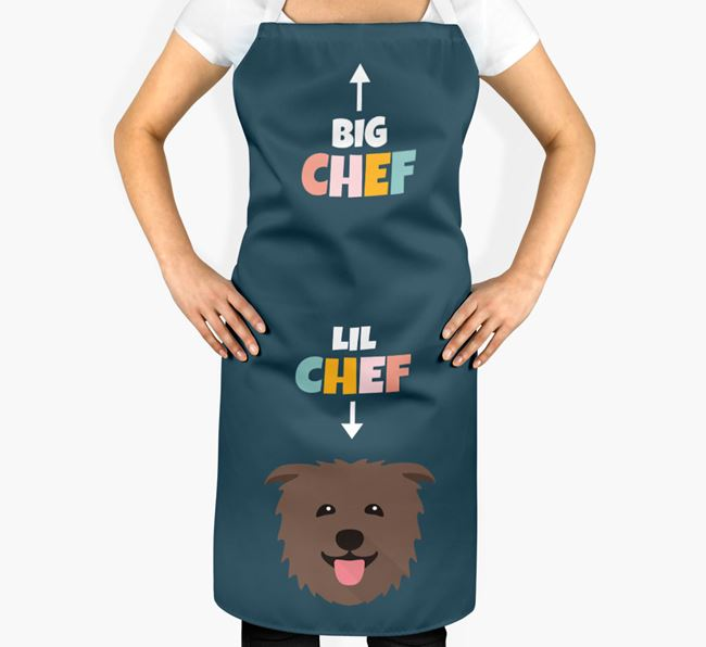 'Big Chef, Lil' Chef' Adult Apron with Glen Of Imaal Terrier Icon