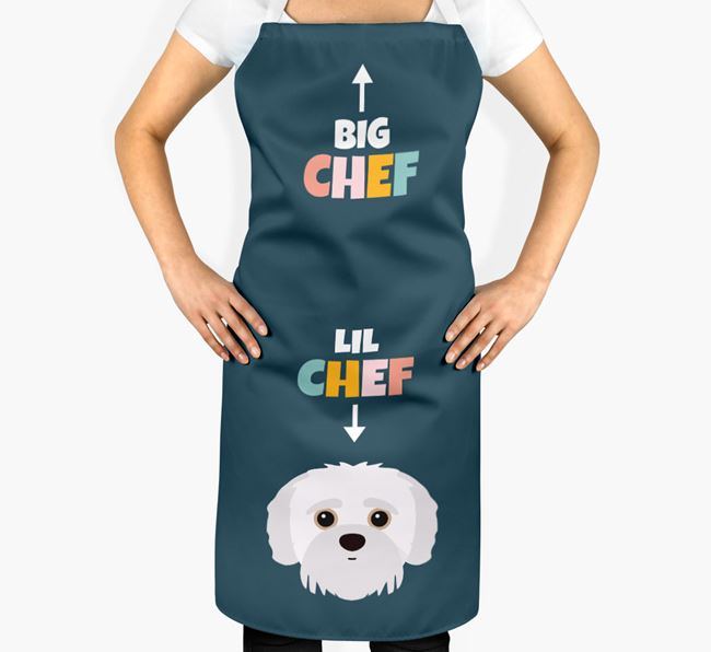 'Big Chef, Lil' Chef' Adult Apron with Jack-A-Poo Icon