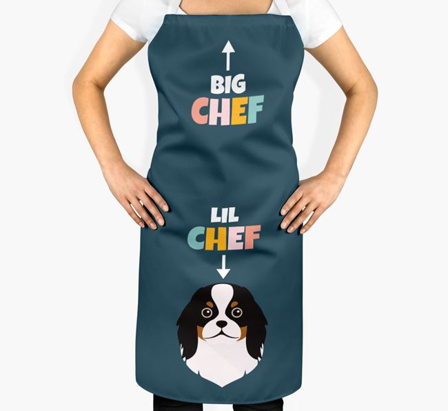 'Big Chef, Lil' Chef' Adult Apron with Japanese Chin Icon