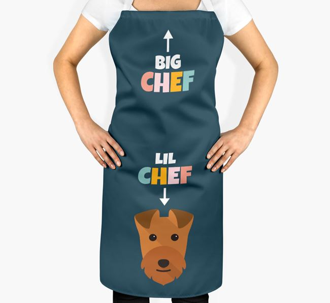 'Big Chef, Lil' Chef' Adult Apron with Lakeland Terrier Icon