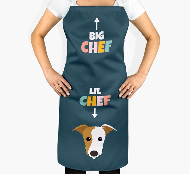 'Big Chef, Lil' Chef' Adult Apron with Lurcher Icon