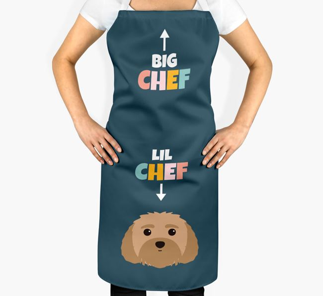 'Big Chef, Lil' Chef' Adult Apron with Dog Icon