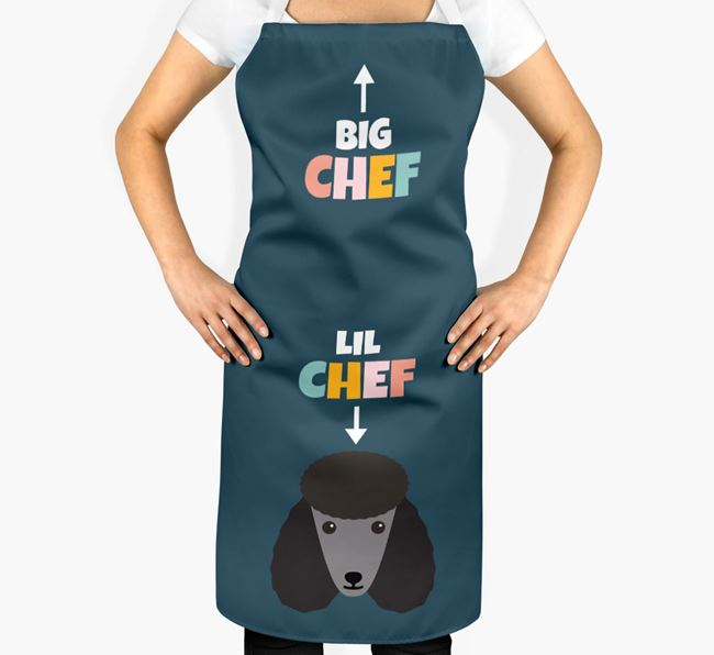 'Big Chef, Lil' Chef' Adult Apron with Poodle Icon