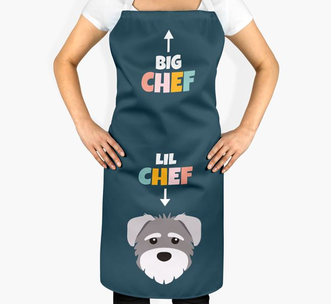 'Big Chef, Lil' Chef' Adult Apron with Schnoodle Icon