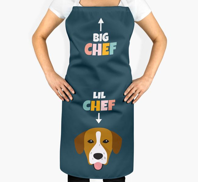 'Big Chef, Lil' Chef' Adult Apron with Springador Icon