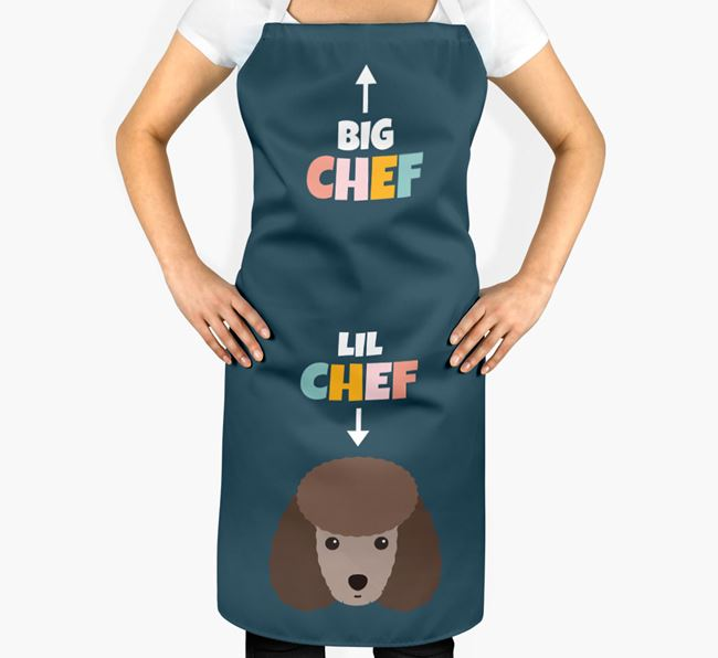'Big Chef, Lil' Chef' Adult Apron with Toy Poodle Icon