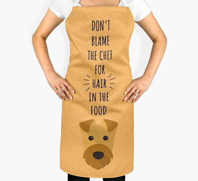 'Don't Blame the Chef' Adult Apron with Airedale Terrier Icon