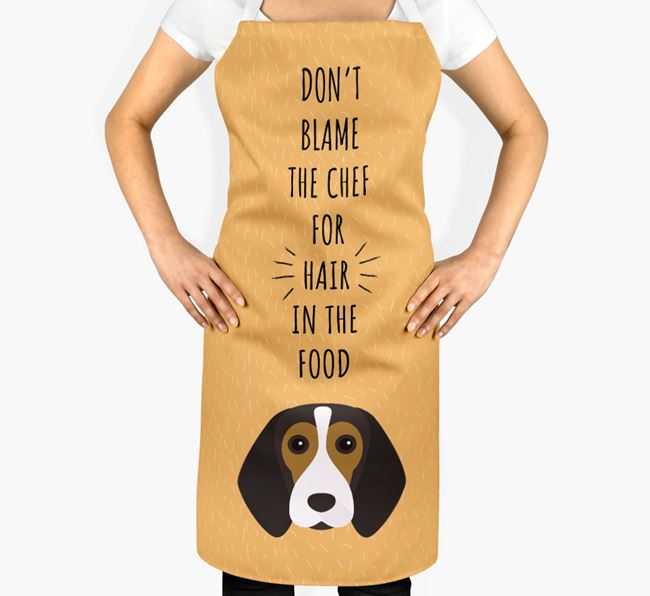 'Don't Blame the Chef' Adult Apron with Beagle Icon