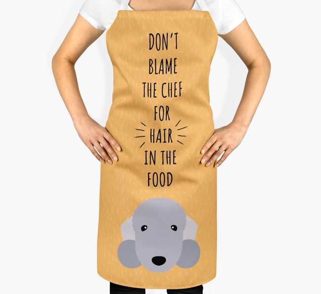 'Don't Blame the Chef' Adult Apron with Bedlington Terrier Icon