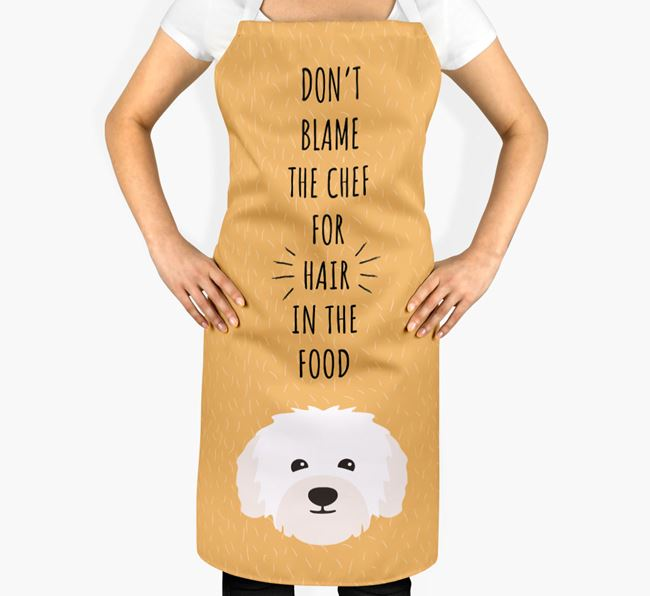 'Don't Blame the Chef' Adult Apron with Bolognese Icon