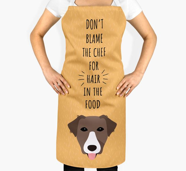 'Don't Blame the Chef' Adult Apron with Borador Icon