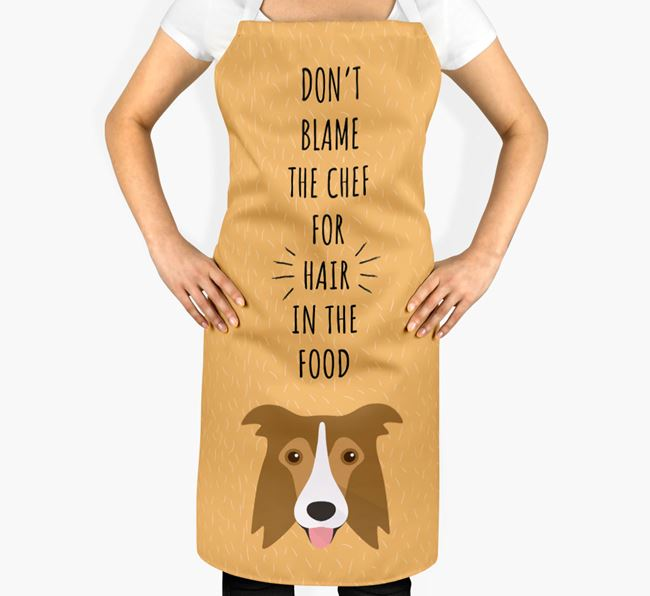 'Don't Blame the Chef' Adult Apron with Border Collie Icon