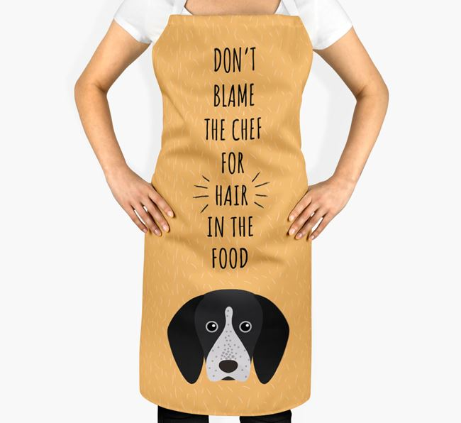'Don't Blame the Chef' Adult Apron with English Coonhound Icon