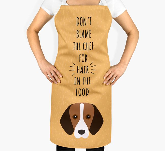 'Don't Blame the Chef' Adult Apron with Foxhound Icon