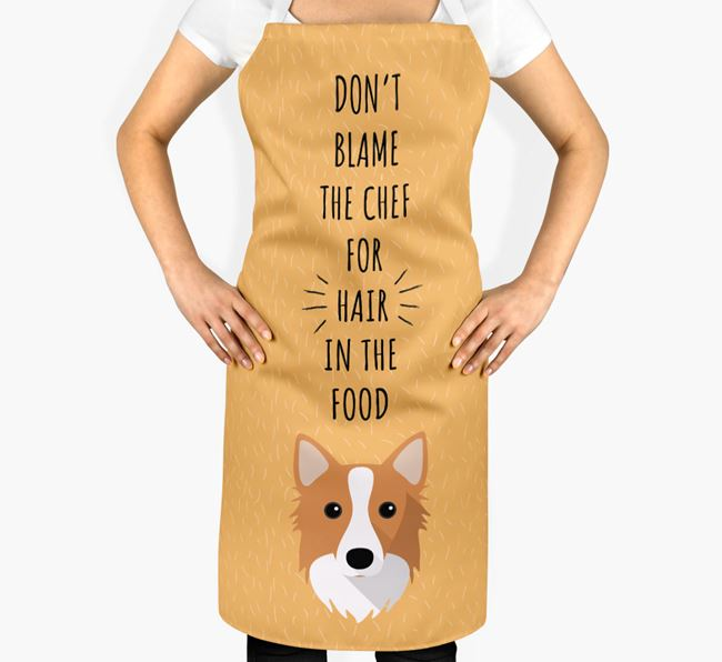 'Don't Blame the Chef' Adult Apron with Icelandic Sheepdog Icon