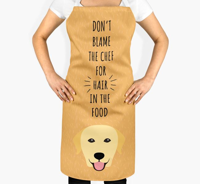 'Don't Blame the Chef' Adult Apron with Labrador Retriever Icon