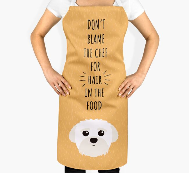 'Don't Blame the Chef' Adult Apron with Peek-a-poo Icon