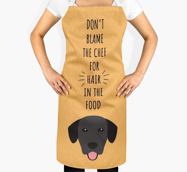 'Don't Blame the Chef' Adult Apron with Springador Icon