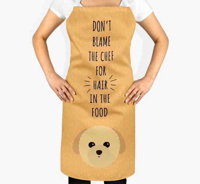 'Don't Blame the Chef' Adult Apron with Toy Poodle Icon