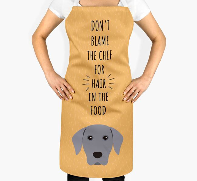 'Don't Blame the Chef' Adult Apron with Dog Icon