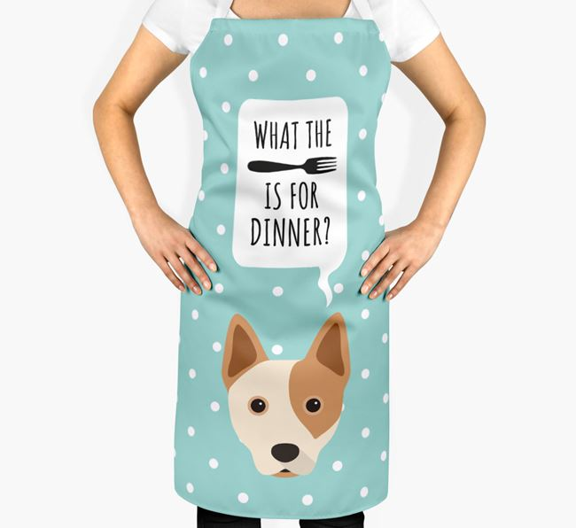 'What's for dinner?' Adult Apron with Australian Cattle Dog Icon