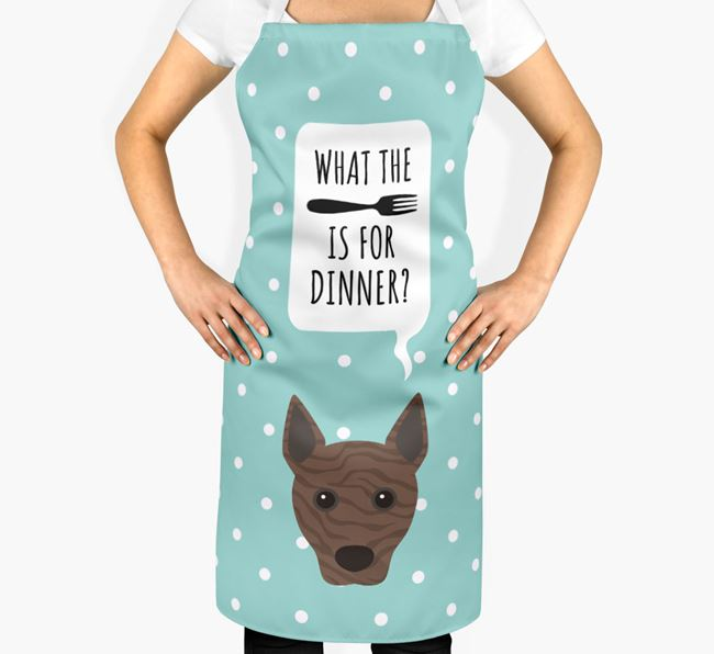 'What's for dinner?' Adult Apron with Basenji Icon