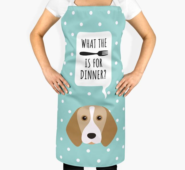 'What's for dinner?' Adult Apron with Beagle Icon