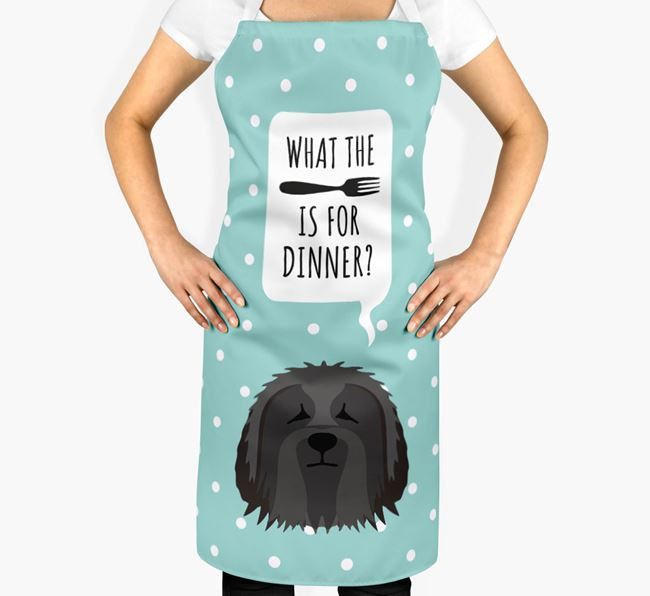 'What's for dinner?' Adult Apron with Bearded Collie Icon