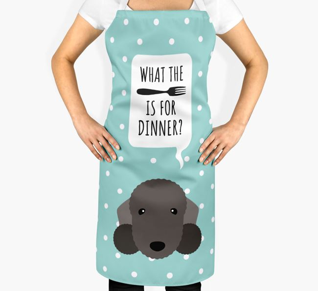 'What's for dinner?' Adult Apron with Bedlington Terrier Icon