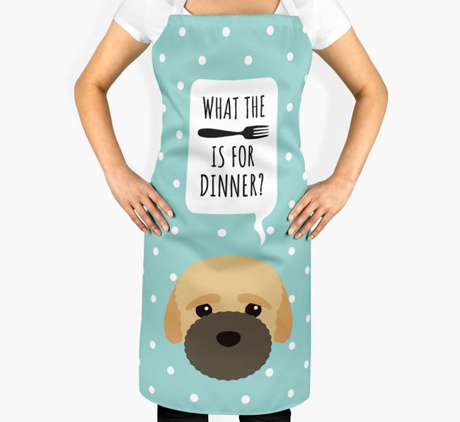 'What's for dinner?' Adult Apron with Bich-poo Icon