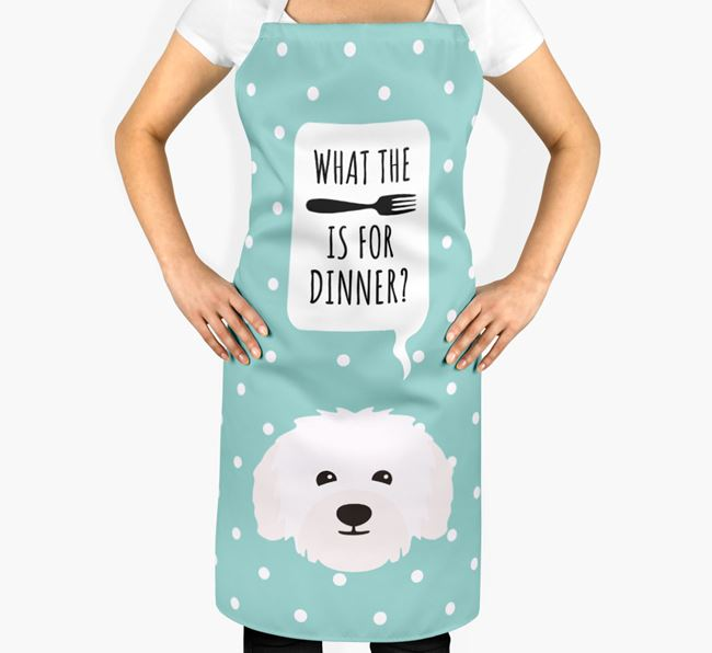'What's for dinner?' Adult Apron with Bolognese Icon