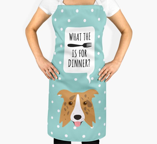 'What's for dinner?' Adult Apron with Border Collie Icon
