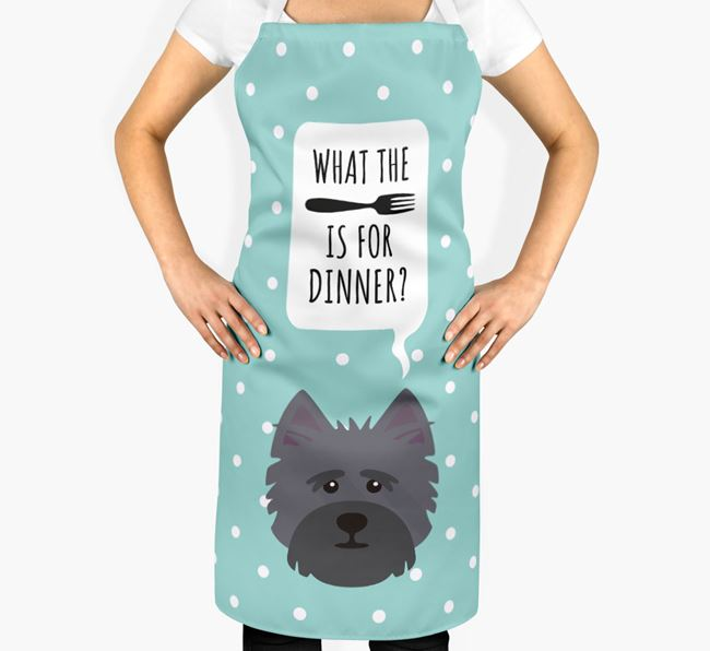 'What's for dinner?' Adult Apron with Cairn Terrier Icon