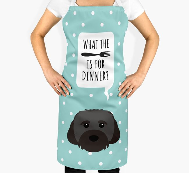 'What's for dinner?' Adult Apron with Cavachon Icon