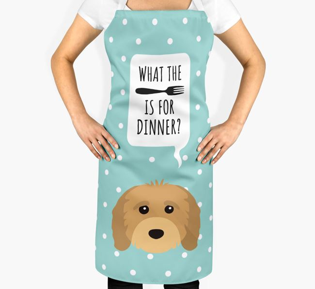'What's for dinner?' Adult Apron with Cavapoo Icon