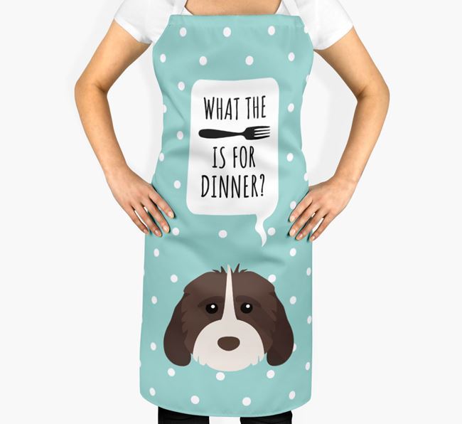 'What's for dinner?' Adult Apron with Cockapoo Icon