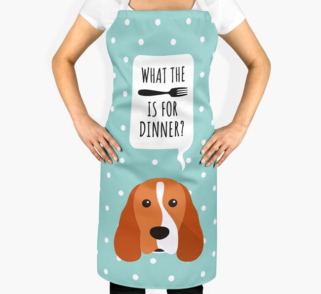 'What's for dinner?' Adult Apron with Cocker Spaniel Icon