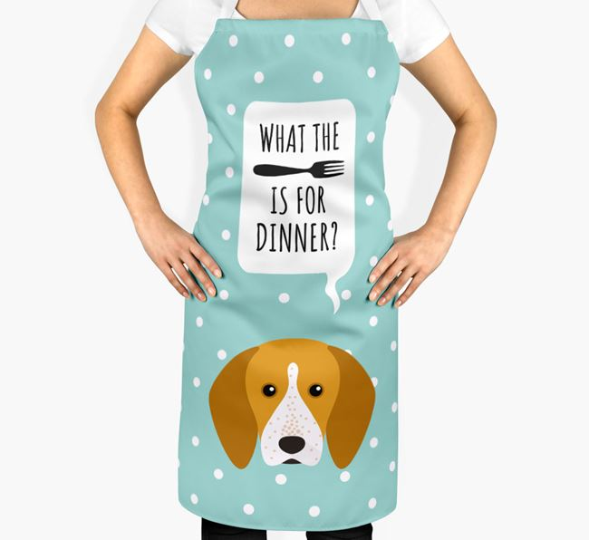 'What's for dinner?' Adult Apron with English Coonhound Icon