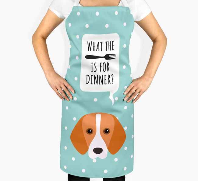'What's for dinner?' Adult Apron with Foxhound Icon