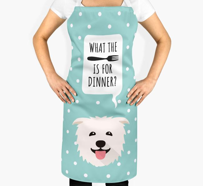 'What's for dinner?' Adult Apron with Glen Of Imaal Terrier Icon