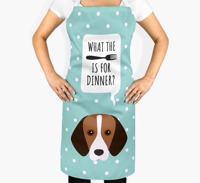 'What's for dinner?' Adult Apron with Harrier Icon