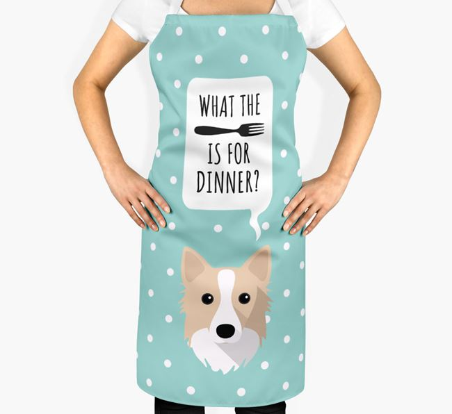 'What's for dinner?' Adult Apron with Icelandic Sheepdog Icon