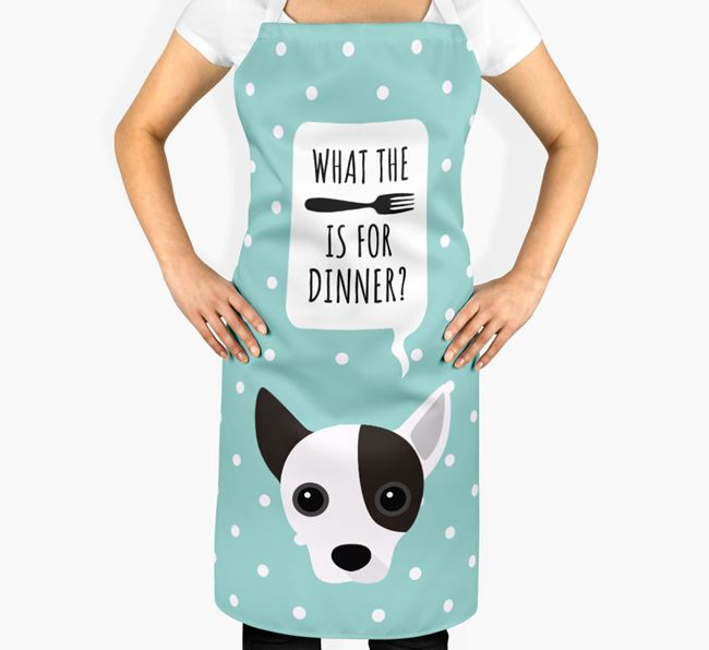 'What's for dinner?' Adult Apron with Jackahuahua Icon