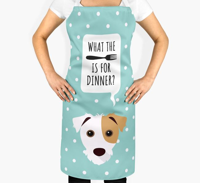 'What's for dinner?' Adult Apron with Jack Russell Terrier Icon