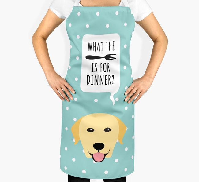'What's for dinner?' Adult Apron with Dog Icon