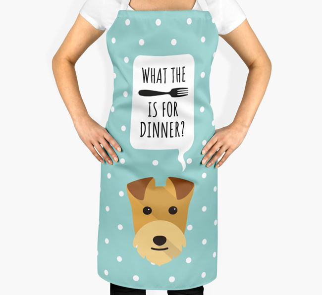 'What's for dinner?' Adult Apron with Lakeland Terrier Icon