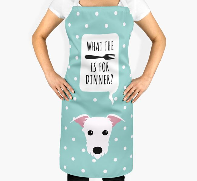'What's for dinner?' Adult Apron with Lurcher Icon