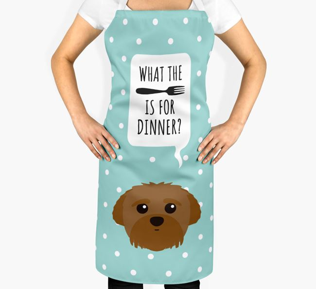 'What's for dinner?' Adult Apron with Peek-a-poo Icon