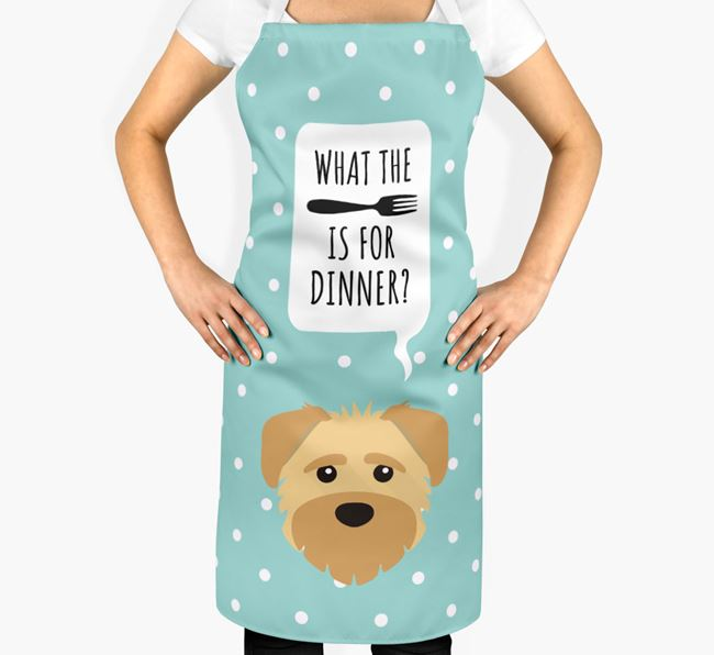 'What's for dinner?' Adult Apron with Schnoodle Icon