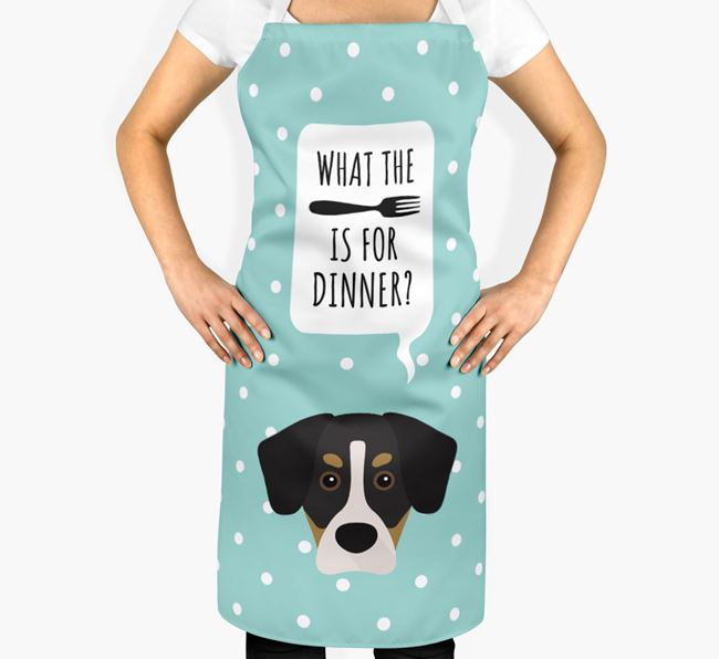 'What's for dinner?' Adult Apron with Siberian Cocker Icon